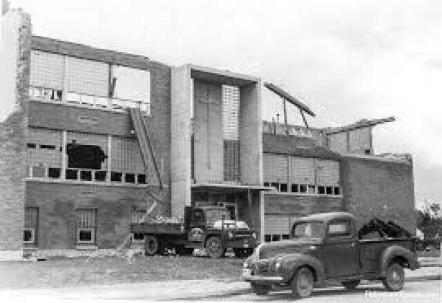 Fargo Shanley, June 1957, Tornado clean-up