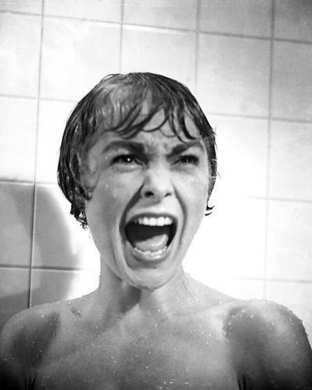 Janet Leigh in her iconic role in Psycho