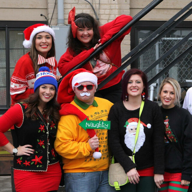 Participants are encouraged to embrace their festive side on the pub crawl