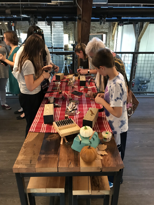 Kids are invited to craft their own gifts